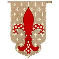 Classical Fleur de Lis Vertical Flag