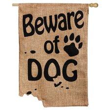 Beware of Dog Garden Flag