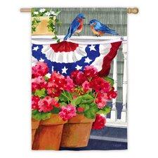 Bluebird Bunting Garden Flag