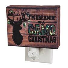 Camo Christmas Canvas Nightlight