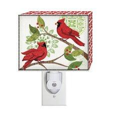 Cardinal Cheer Canvas Nightlight
