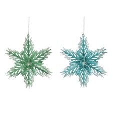 Acrylic Snowflake Ornament (Set of 2)