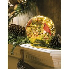Peace on Earth Indoor LED Glass Globe