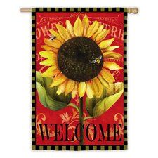 Sun Flower Vertical Flag