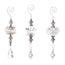 3 Piece Mercury Glass Tiered Ornament Set