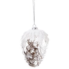 Pinecone Filled Glass Ornament