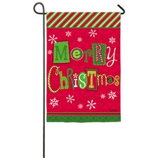 Merry Christmas Ornaments 2-Sided Garden Flag