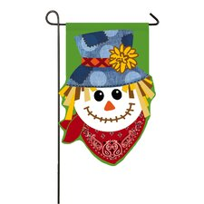 Happy Scarecrow Garden Flag