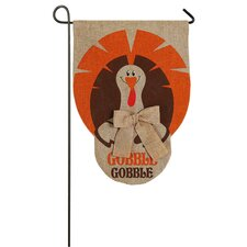 Gobble Turkey Garden Flag