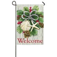 Costal Christmas Garden Flag