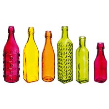 Decorate Your Garden Set of 6 Glass Bottles