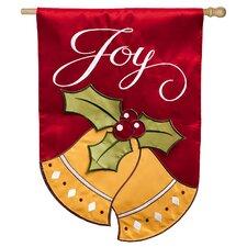 Joyful Christmas Bells Regular Applique 2-Sided Flag