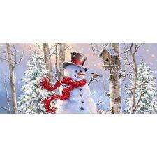 Birch Forest Snowman Sassafras Switch Mat