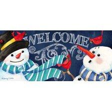 Snowman Welcome Sassafras Switch Mat