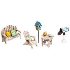 5 Piece Afternoon in the Garden Mini Garden Set