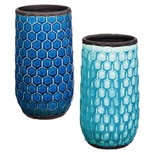 Tall Honeycomb Planter (Set of 2)