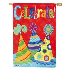 Let's Celebrate Vertical Flag