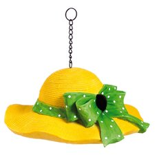 Straw Hat Hanging Birdhouse