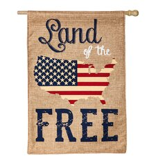 Land of the Free Vertical Flag