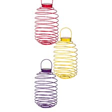 Cylindrical Collapsible Solar Lantern (Set of 3)