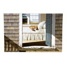 Beach House Dog Painting Print on Canvas