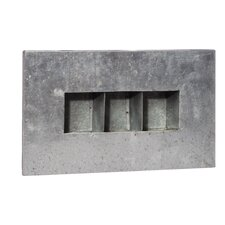 3 Pocket Zinc Rectangular Wall Planter