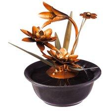 Lotus Wonders Metal Tabletop Fountain