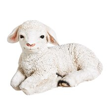 Sitting Lamb Statue