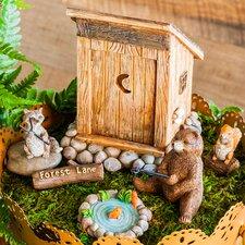 6 Piece Forest Lane Mini Garden Statue Set