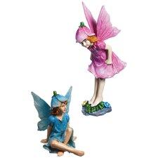 Mini Fairy 2 Piece Statue Set