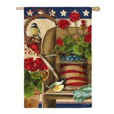 Patriotic Garden Vertical Flag