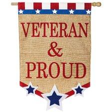 Veteran and Proud Vertical Flag