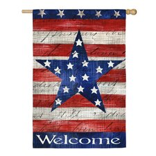 Patriotic Strip & Star Vertical Flag