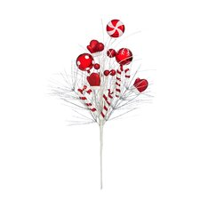 Candy Cane Whimsy Tree Pick Ornament