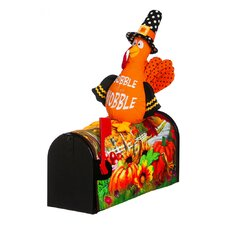 "18"" Pumpkin Field Turkey Magnetic Mailbox Cover"