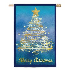 Christmas Tree Regular Suede Vertical Flag