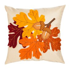 Leaves & Acorn Outdoor Throw Pillow