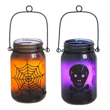 Something Spooky Glass Mason Jar