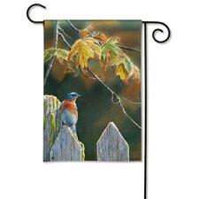 Garden Gate BlueBird Garden Flag