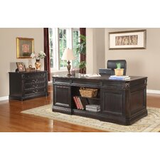 Grand Manor Palazzo Executive Desk and File Wall
