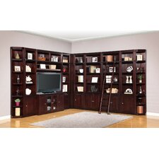 Boston Corner Entertainment Center with Ladder