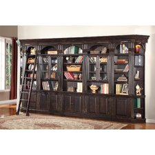 Venezia Library Wall with Glass Cabinets