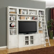 Boca 4 Piece Entertainment Center with Ladder