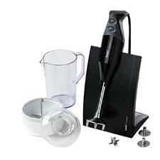 Swissline - 150 Watt, 2 Speed, 3 Blade Hand Blender with Food Processor, Jug and Table Stand