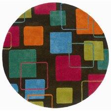 Vibrance Grey Geometric Squares Rug