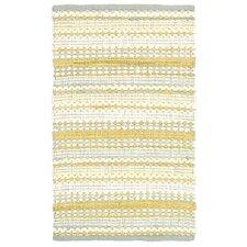 Dhurry Yellow & Grey Area Rug