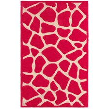 Fashion Pink Giraffe Area Rug