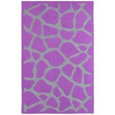 Fashion Purple Giraffe Area Rug