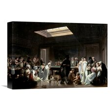 'A Game of Billiards' by Louis Leopold Boilly Painting Print on Wrapped Canvas