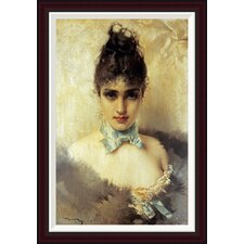 An Elegant Beauty by Vittorio Corcos Framed Painting Print